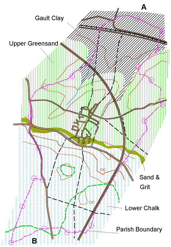 Diagram of section